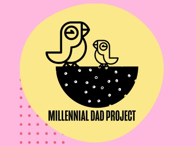 Splash Screen For Millennial Dad Project branding and identity design logo