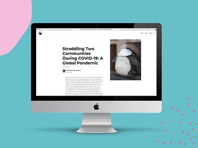 Millennial Dad Project Short Essay Mockup design web design branding identity wordpress