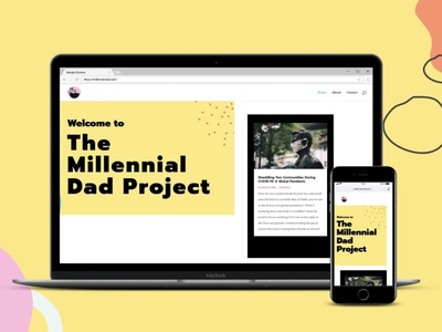 Millennial Dad Project Homepage web design branding and identity design wordpress