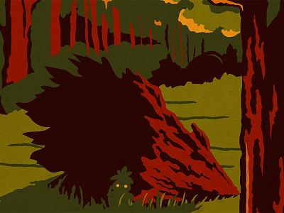 Zelda WPA Poster - Lost Woods ocarina of time zelda wpa parks digital retro vintage illustration