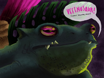 Venusaur video games ivysaur bulbasaur gift pokemon watercolor digital illustration