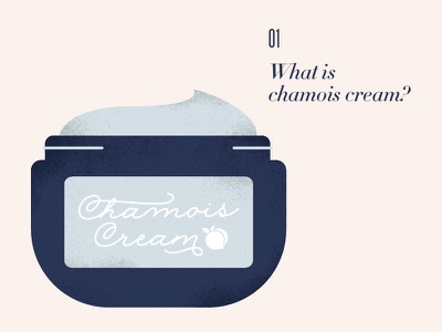 What is chamois cream? booty peachy bikes trek cream chamois cycling illustration