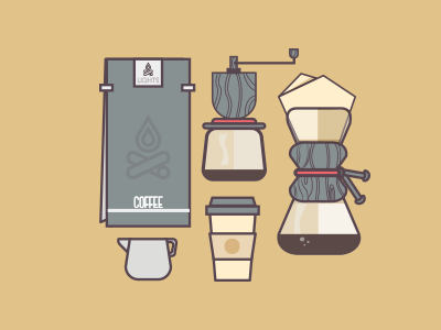 Insomniac Pack flat design pack coffee vector graphic design flat design