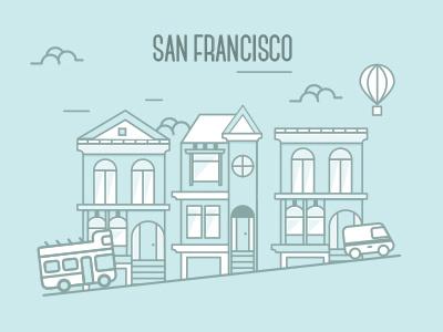 San Francisco san francisco design flat graphic design supplier city flat design