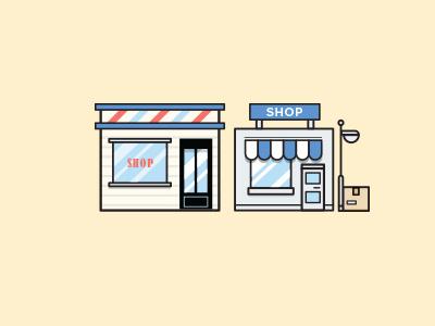Shops design flat graphic design supplier inventory management flat design