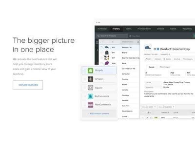 Feature Module integrations apps web design design flat subscription email ui