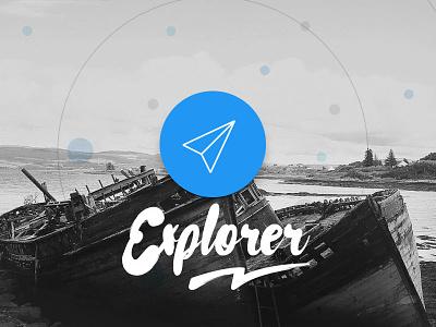 Explorer ux hand message journey planner travel maps app mobile ui