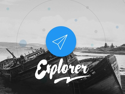 Explorer ux hand message journey planner travel maps app mobile ui