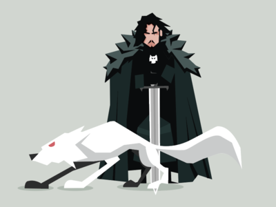 John Snow design graphics vector got game of thrones