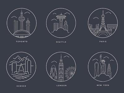 Big Cities london cities yorkvector parisdenvernew
