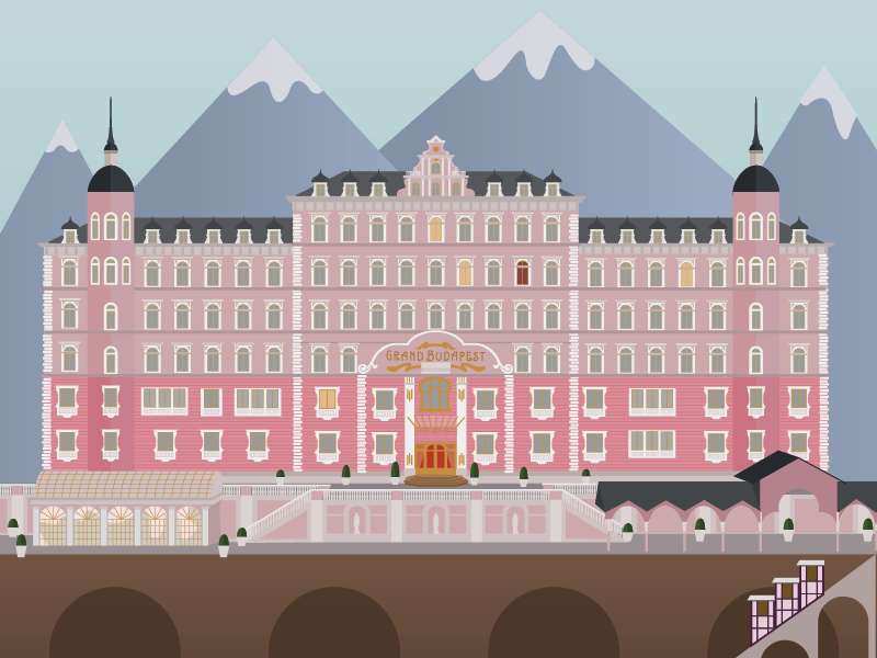 Grand Budapest Hotel Wallpaper: Grand Budapest Hotel By Carolyn Bahar
