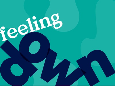 012/100 Feeling Down sans serif serif typography type design 100 day project
