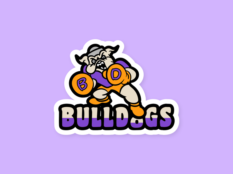 Bulldogs Sports Team design vector patch dailylogochallenge logo