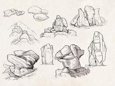 Sketches: Rocks #1