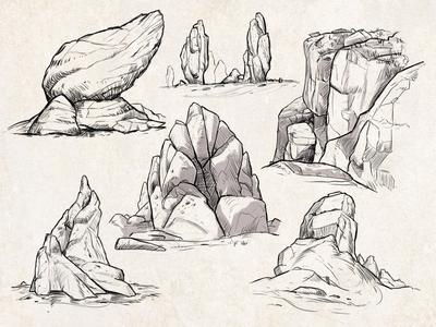 Sketches: Rocks 2