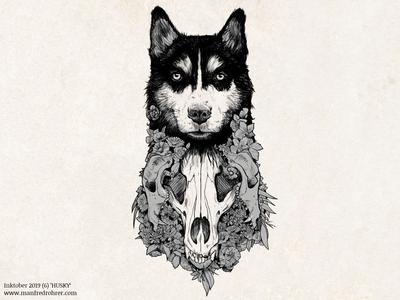 Inktober 2019 (6) 'husky'