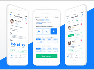 UpSkill app (tutoring for seniors) interaction design ux app