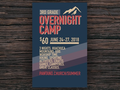 Over Night Camp Advertising Poster kids ministry childrens ministry camp church design church