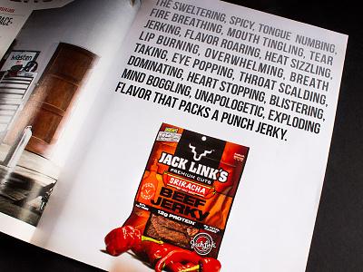 Jack Links Magazine Ad ad series adjectives typography photography jack links advertisement magazine ad