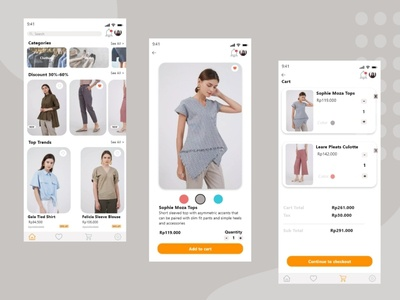 Woman Fashion E-Commerce App mobile app design e-commerce