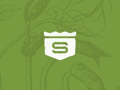 Grass Crest s crest badge logo branding grass seed turf landscaping farming homegrown gardening