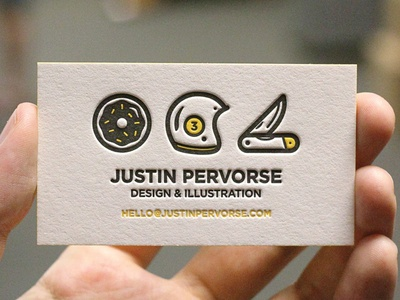 Bidness Cards print illustration business cards stationary collateral letterpress duplex edge painting boss deboss