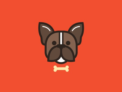 Woof Woof boston terrier bone dog puppster illustration bark woof