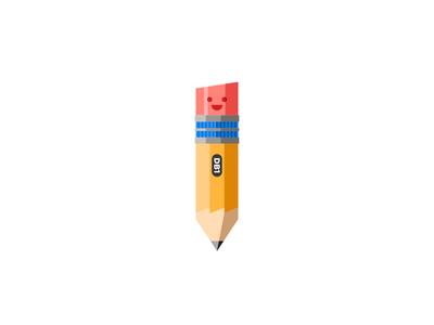 Mr. Pencil pencil mascot happy dropbox illustration team