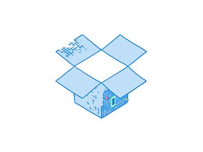 Deconstructobox dropbox illustration death star engineering circuits deconstruction reconstruction build