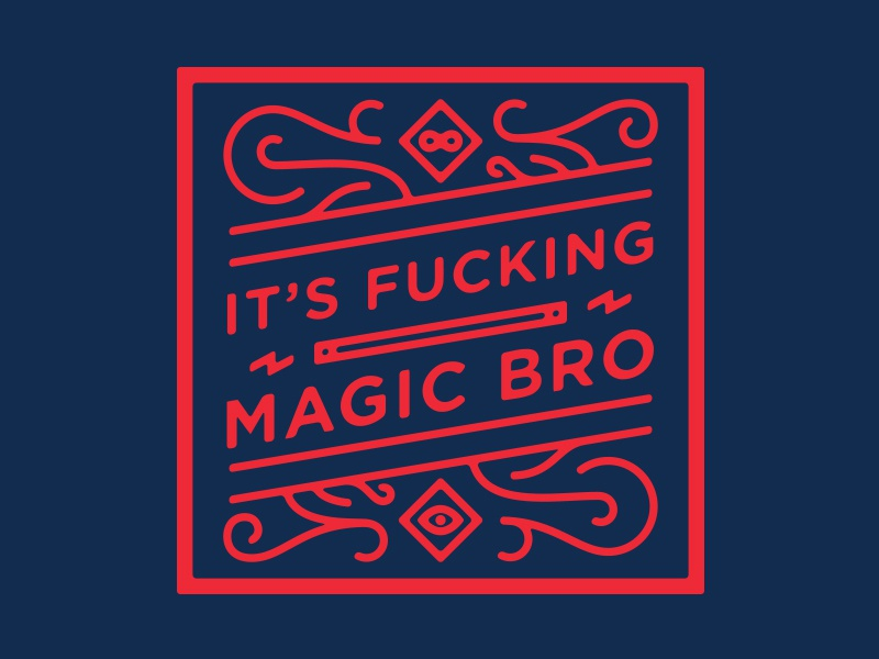Alakazam! magic wizards magicians infinity and shit zap wand illustration type
