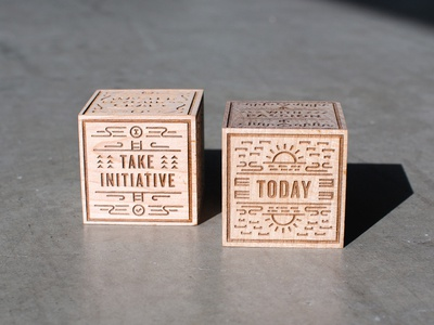 Master Dice dice wood laser etch inspiration team illustration type