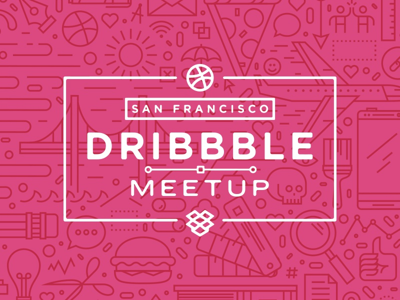 San Francisco Dribbble Meetup dropbox meetup event dribbble designers illustration pattern skulls and shiz