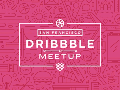 San Francisco Dribbble Meetup dropbox meetup event dribbble designers illustration pattern skulls and shiz