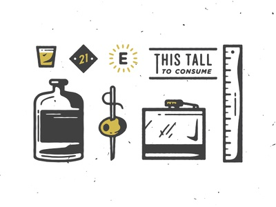 Consumption Junction illustration liquor beer flask fancy juice retail visual drank