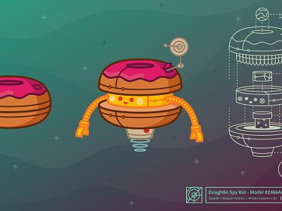 DoughBo™ illustration donut robot future52 lasers rockets dangerous delicacies