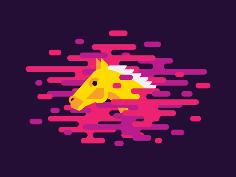 Wild Horses weird wtf purple fart cloud color animal horse illustration