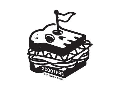Death Sando™ secret sauce illustration restaurant sando food skulls metal sandwich scooters