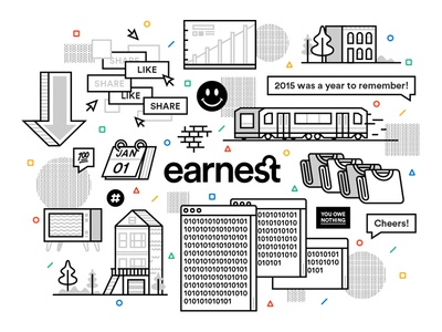 A Very Earnest 2015 finance banking fintech earnest san francisco illustration web annual report year in review