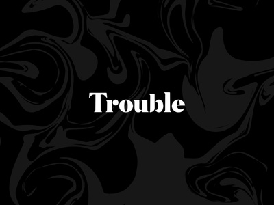 Trouble project fart secrets dark magic typography branding
