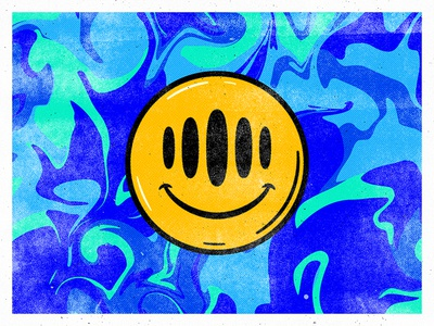 Smile Season wavy young thug brand art possibly alien really weird weird groovy illustration smile intercom
