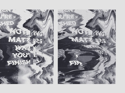 Nothing Matters distorted fart art experiment riso wavvy distortion type print