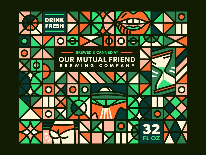 Crowlers! bevy drink booty print crowlers cans labels beer our mutual friend omf