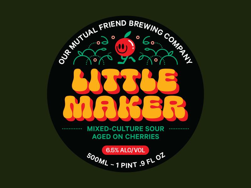 Little Maker character type art sour label branding beer branding packaging print illustration beer