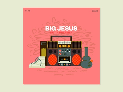 10x18 — Big Jesus 10x18 album art illustration abstract art music type layout graphic  design visual design