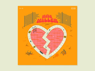 10x18 — Mac Miller 10x18 type layout illustration abstract art music album art graphic design visual design