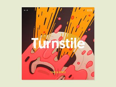 10x18 — Turnstile 10x18 layout type music album art illustration abstract visual art graphic design visual design