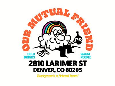 Denver Pride brand illustration print type beer