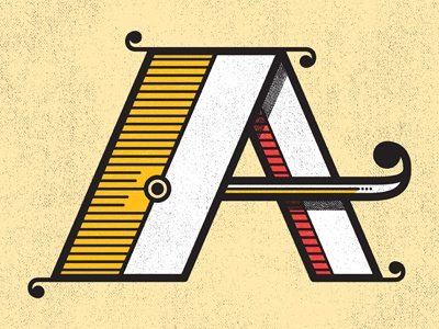 Weekly Warmups - A type typography illustration letters a cool stuff warmup