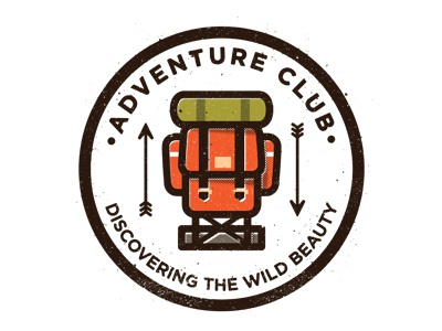 Adventure Club adventure-club adventure camping backpack arrows badge logo brand stamp illustration icon label outdoors