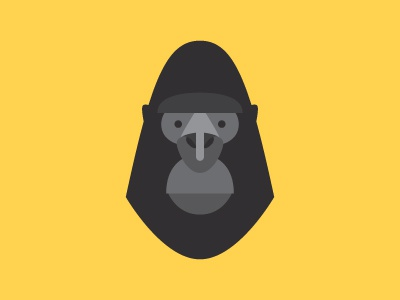 Rilla Bro gorilla head ape illustration icon primates animal